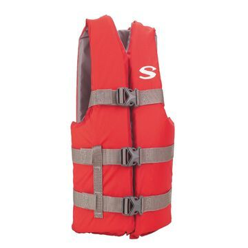 Stearns Pfd 3007 Cat Boating Vest Youth Red 3000001415