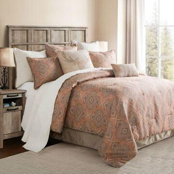 Hiend Accents Sedona 2-Piece Twin Comforter Set In Pink/taupe