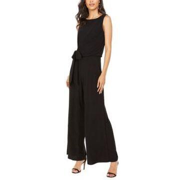 Msk Petite Tie-Waist Wide-Leg Jumpsuit
