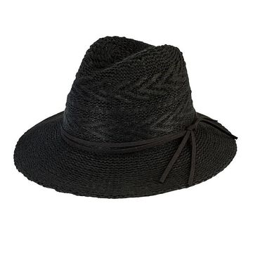 San Diego Hat Company Women's Knit Pattern Fedora