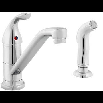 PROFLO PFXC4131 Single Handle Kitchen Faucet Polished Chrome Faucet Kitchen Single Handle