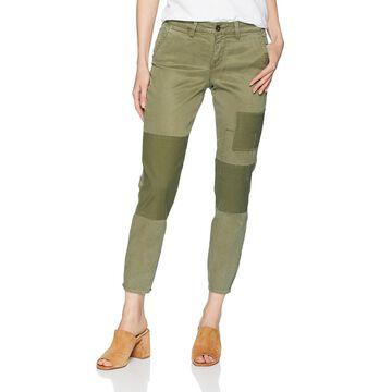 NYDJ Green Women's Size 10X25 Patched Skinny Leg Pants Stretch
