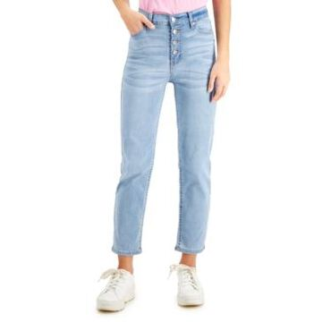 Celebrity Pink Juniors' High-Rise Button-Fly Slim-Straight Jeans