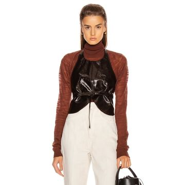 Lemaire Plastron Top in Chocolate Torte | FWRD