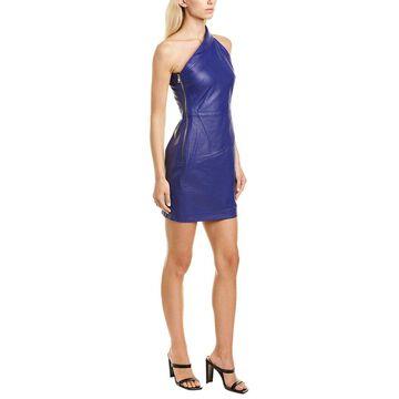Rta Aurora Leather Sheath Dress