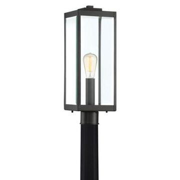 Quoizel Westover Outdoor Post Lantern in Earth Black