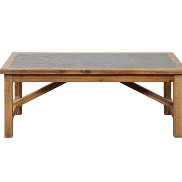 Linon Carly Brown Wood Veneer Coffee Table | CC1080CON01