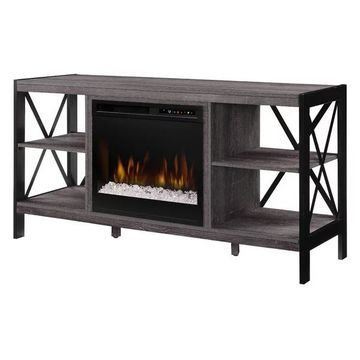 Ramona Media Console Electric Fireplace With Glass Ember Bed