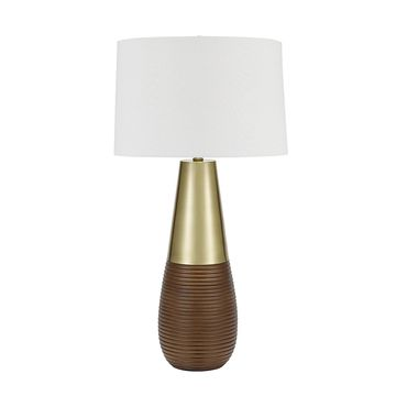 Catalina Lighting Bronze Tapered Gourd Table Lamp