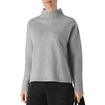 Whistles Ribbed Knit Wool Pullover Sweater