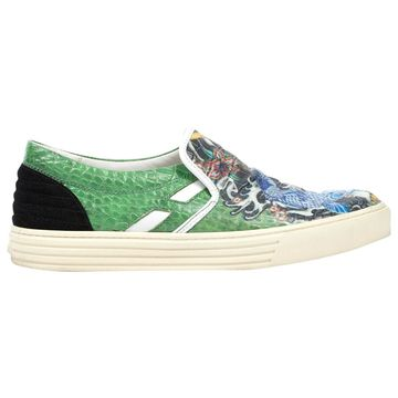 Hogan Green Leather Trainers