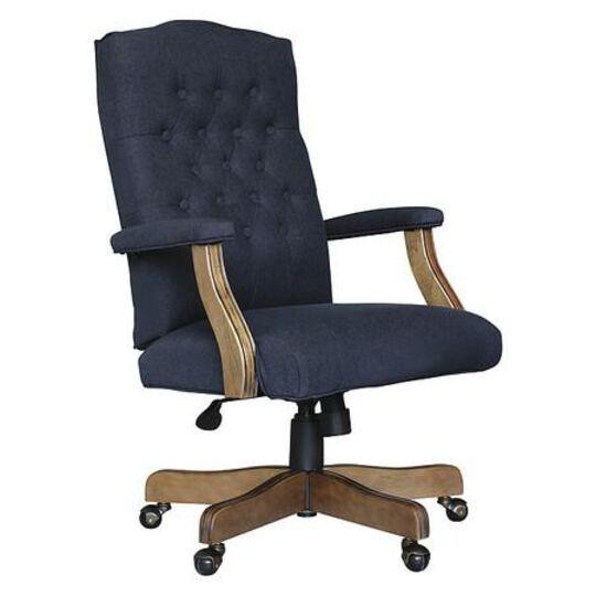Executive Navy Linen Chair With Dri