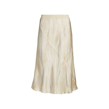 ATM Anthony Thomas Melillo Silk Water Color Midi Skirt