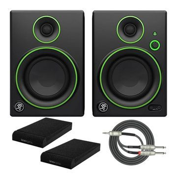 Mackie CR4BT 4-inch Multimedia Monitors with Pads and Stereo Cable