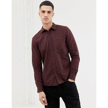 Nudie Jeans Co Henry button down shirt in plum