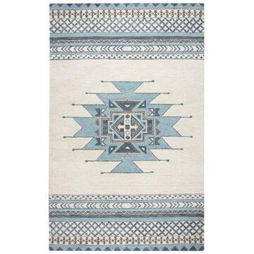 Rizzy Home SU567A Blue 8' x 10' Hand-Tufted Area Rug