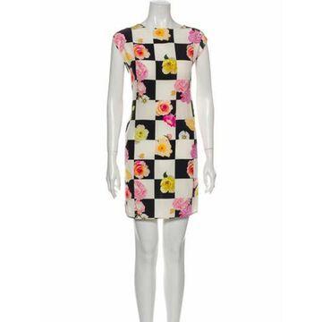Msgm Silk Mini Dress Black Msgm Silk Mini Dress
