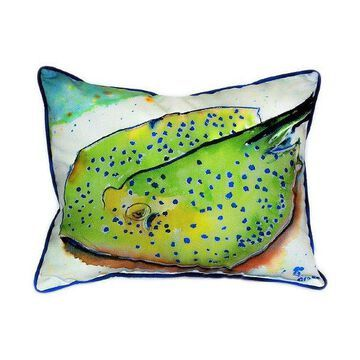 Pair of Betsy Drake Stingray Large Pillows 16 Inch x 20 Inch