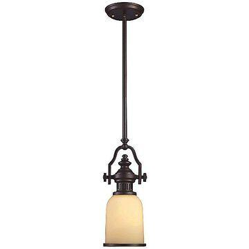 ELK Lighting Chadwick Mini Pendant Light - Color: Bronze - Size: 1 light - 66132-1