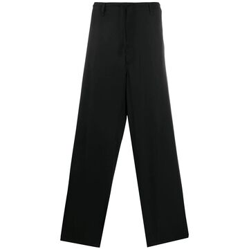 wool loose fit trousers
