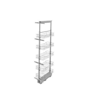 Rev-A-Shelf 10-in W x 74-in H 5-Tier Pull Out Metal Soft Close Baskets & Organizers in Chrome