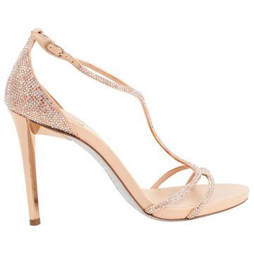 Rene Caovilla Pink Leather Heels