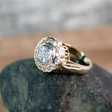14K Yellow Gold 1 1/5 ct. Diamond Ring by Beverly Hills Charm