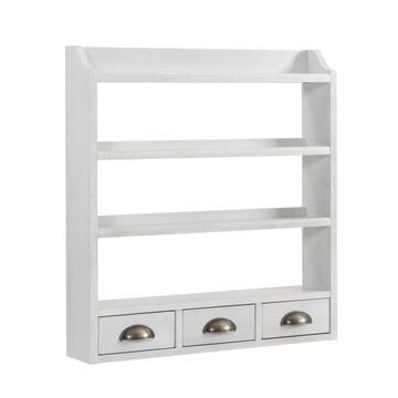 Boston Loft Furnishings Shabby Chic White Stain 24.5-in L x 4.75-in D Wall Cabinet   ATG8321