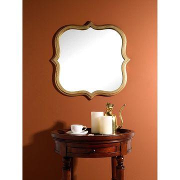 Aurora Home Gold Quatrefoil Mirror - Antique Gold - A/N