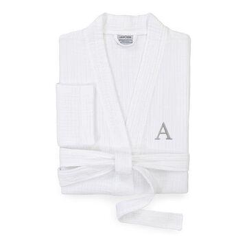 Linum Home Textiles Turkish Cotton Smyrna Personalized Luxury Robe, Men's, Size: Large/XL, White