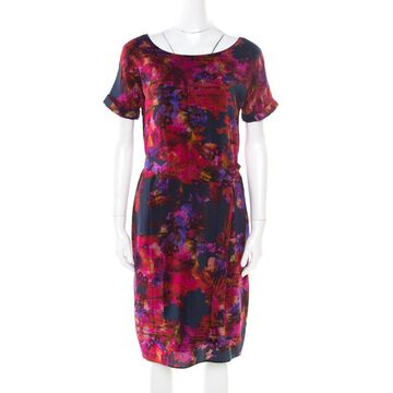 Erdem Multicolor Floral Printed Silk Belted Dress M