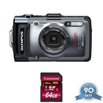Olympus Tough TG-1 iHS Digital Camera - with Memory Card -
