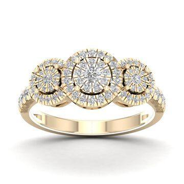 De Couer 1/2ct TDW Diamond Cluster Ring - Yellow