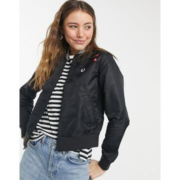 Fred Perry x Amy Winehouse Foundation checkerboard heart jacket in black