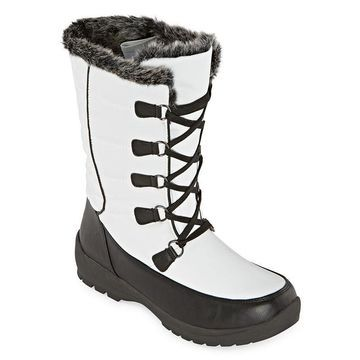 Totes Womens Alana Waterproof Insulated Winter Boots Flat Heel