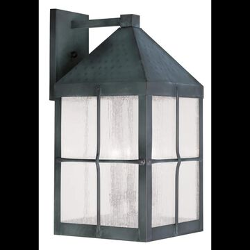 Livex Lighting 2685 Brighton Large Outdoor Wall Sconce with 4 Lights Hammered Charcoal Outdoor Lighting Wall Sconces Outdoor Wall Sconces