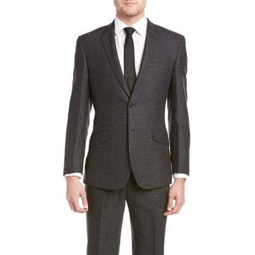 English Laundry Mens Slim Fit Suit With Flat Front Pant