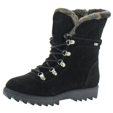 Cougar Women's Zag Leather Waterproof Fold-Over Winter Snow Boots