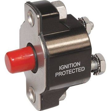 Blue Sea Systems 2141 Medium Duty Push Button Reset Only Circuit Breaker, 40A