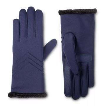 Women's isotoner Lined Water Repellent Chevron Spandex Gloves