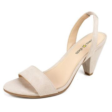 Seven Dials Womens Ramsbury Fabric Open Toe Special Occasion
