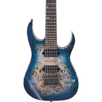 Blemished RG Premium 7-string electric guitar Cerulean Blue Burst 190839827845