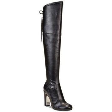 Material Girl Womens priyanka Closed Toe Knee High Fashion