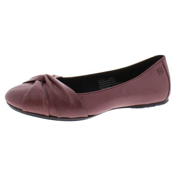Born Womens Lilly Leather Slip On Ballet Flats