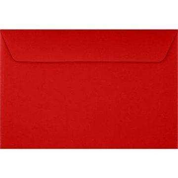 6 x 9 Booklet Contour Flap Envelopes - Ruby Red (250 Qty.)