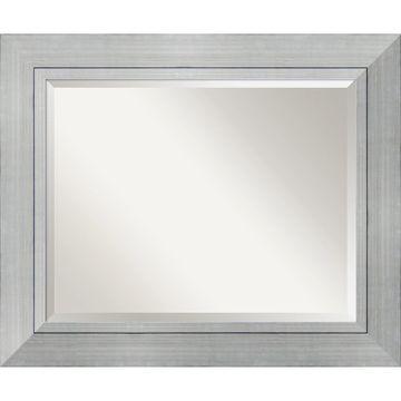 Amanti Art& Romano Bathroom Mirror in Silver
