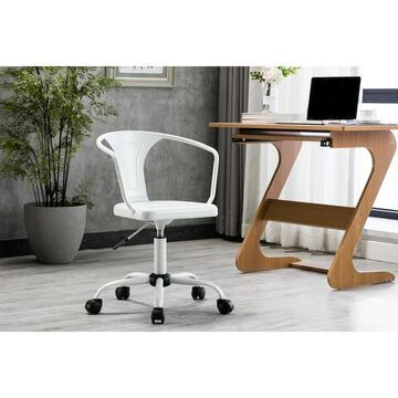 Porthos Home Ingo Swivel Office Chair, Iron Seat, Back And Armrests