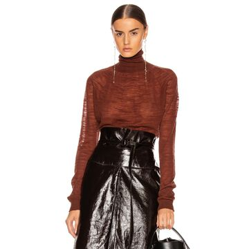 Lemaire Light Turtleneck Top in Terracotta | FWRD