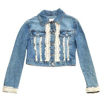 Blumarine Blue Cotton Jackets