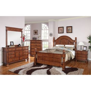 Cambridge Raleigh Brown Wood Contemporary Nightstand